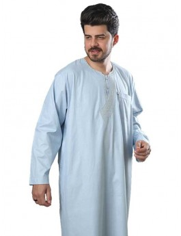 Long Sleeve Embroidered Thoube-Color