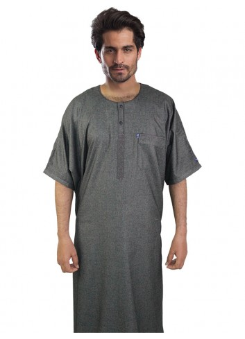 Half Sleeve Embroidered thoub-4328