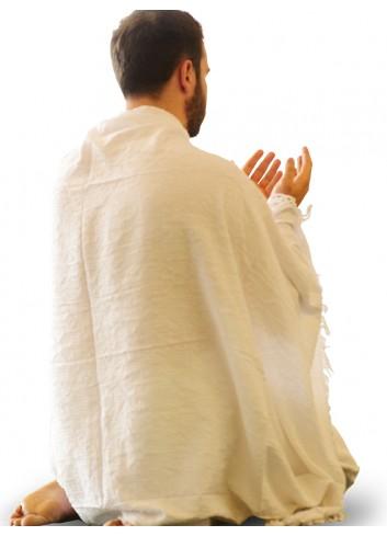 ثوب اكاف بلو كتان مطرز