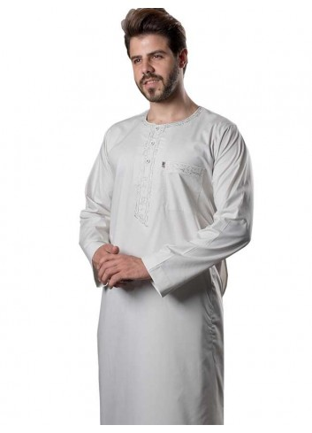 Long Sleeve Slim Color Thoub