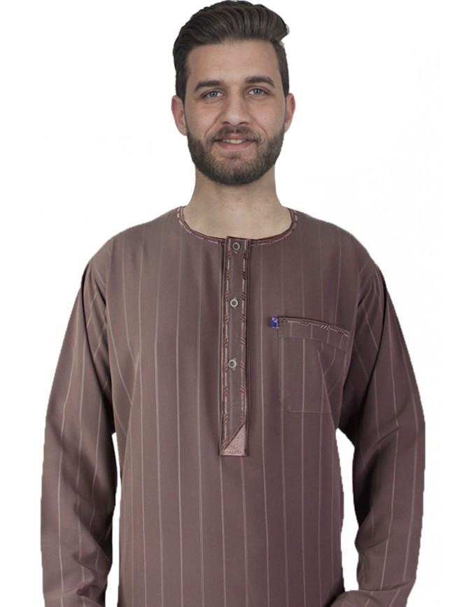 Long Sleeve Embroidered Thobe Color