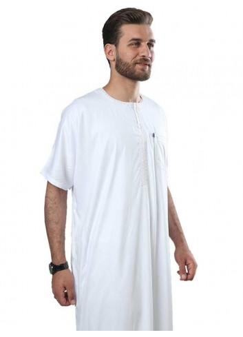 Half sleeve Embroidered Polyester thoube