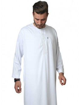 Embroidered long sleeve Polyester thoube