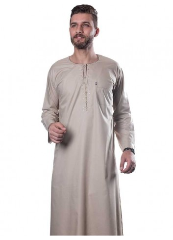 Long Sleeve Color Thoub