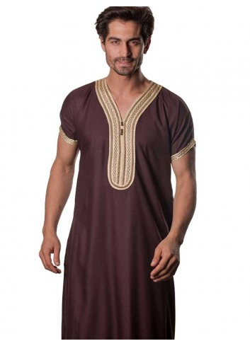Moroccan Half sleeve thobe-color