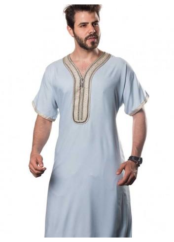 Moroccan Half sleeve thobe-color
