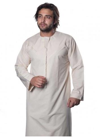ثوب اماراتي - كريمي