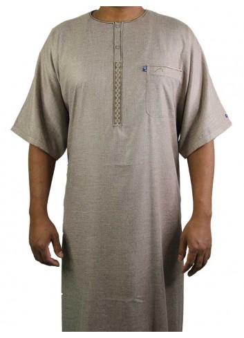 half sleeve Embroidered thobe-64 size
