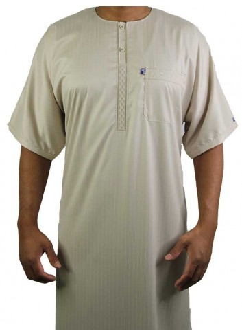 Half sleeve color Embroidered thoube