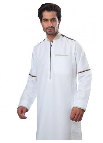 ثوب اكاف مودرن كريمي موديل 2009