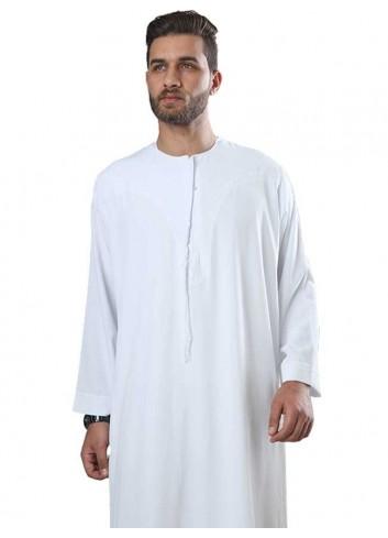 ثوب بوليسترعماني ابيض